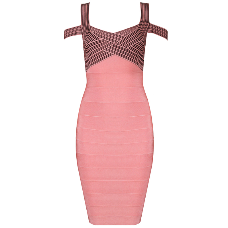 Celeb boutique pink and black dress