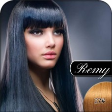 #27 Strawberry Blonde - Remy Hair Extensions. Silky Straight Weft, 100% Remi Human Hair Extensions, Weight 100g
